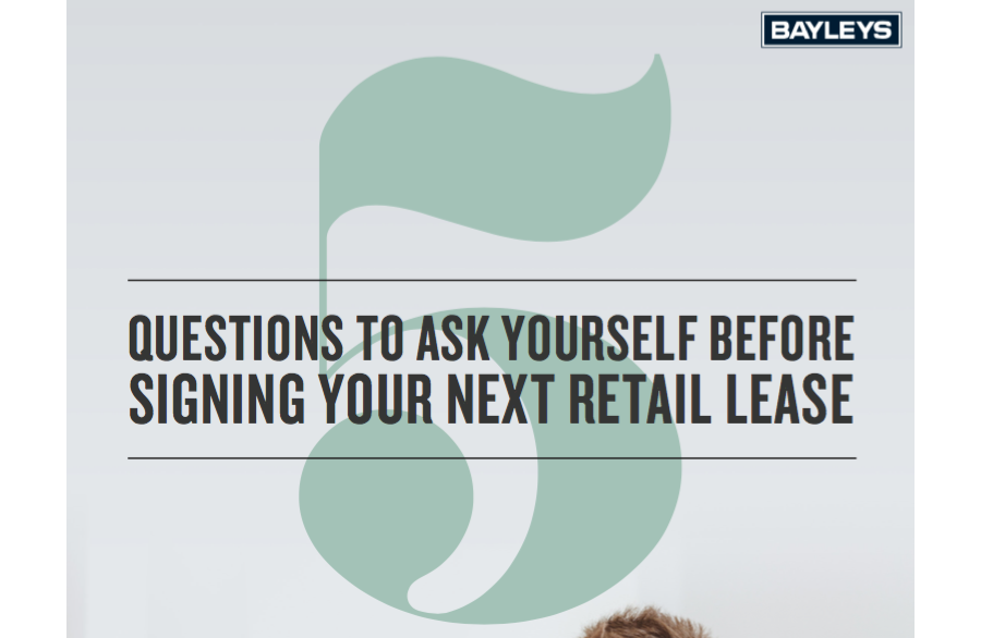 Signing Your Retail Lease
