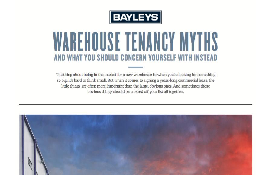 Warehouse Tenancy Myths